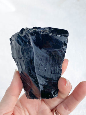 Black Obsidian Rough | XXL - Unearthed Crystals