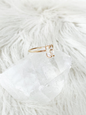Herkimer Diamond Ring | Gold | Size 7 - Unearthed Crystals