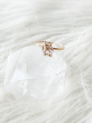 Herkimer Diamond Ring | Rose Gold | Size 8 - Unearthed Crystals