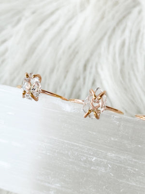 Herkimer Diamond Ring | Rose Gold | Size 6 - Unearthed Crystals