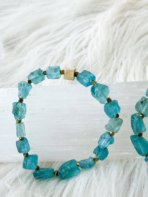 Raw Apatite Stretch Bracelet - Unearthed Crystals
