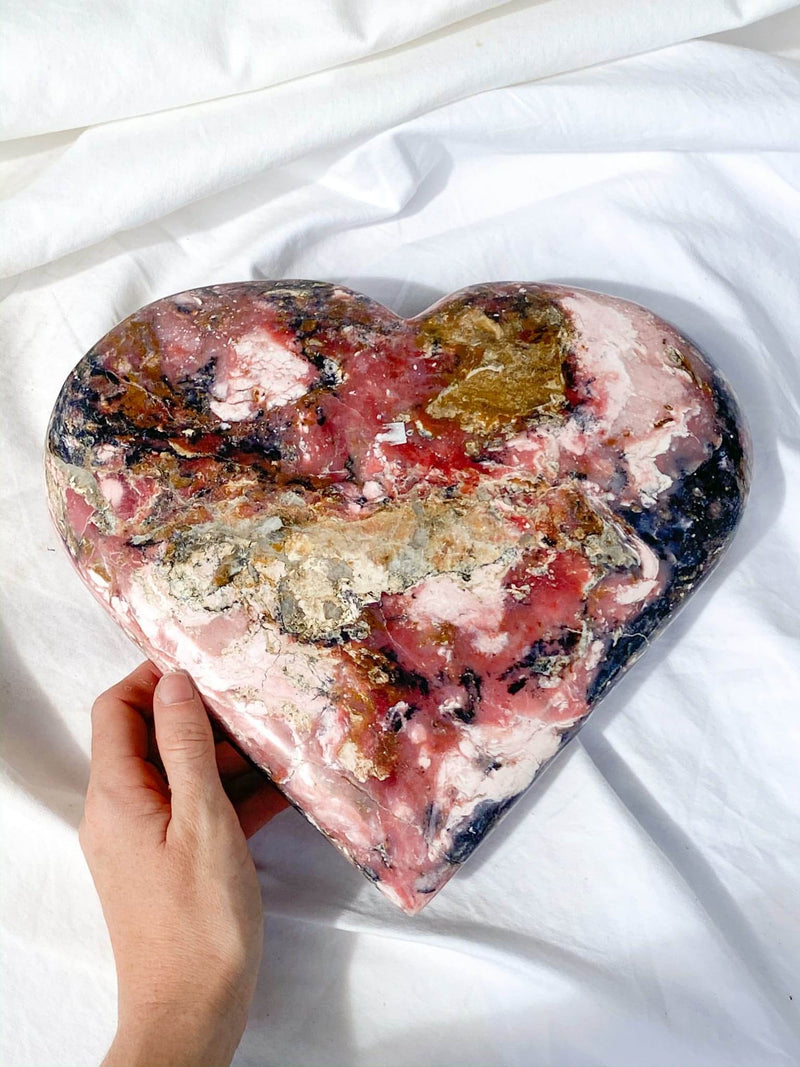 Pink Opal Heart - Unearthed Crystals