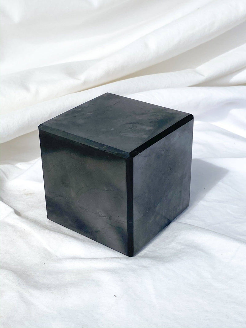 Shungite Cube | 80mm - Unearthed Crystals
