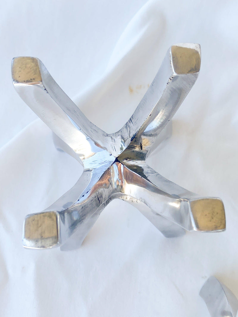 Aluminium Prong Stand - Unearthed Crystals