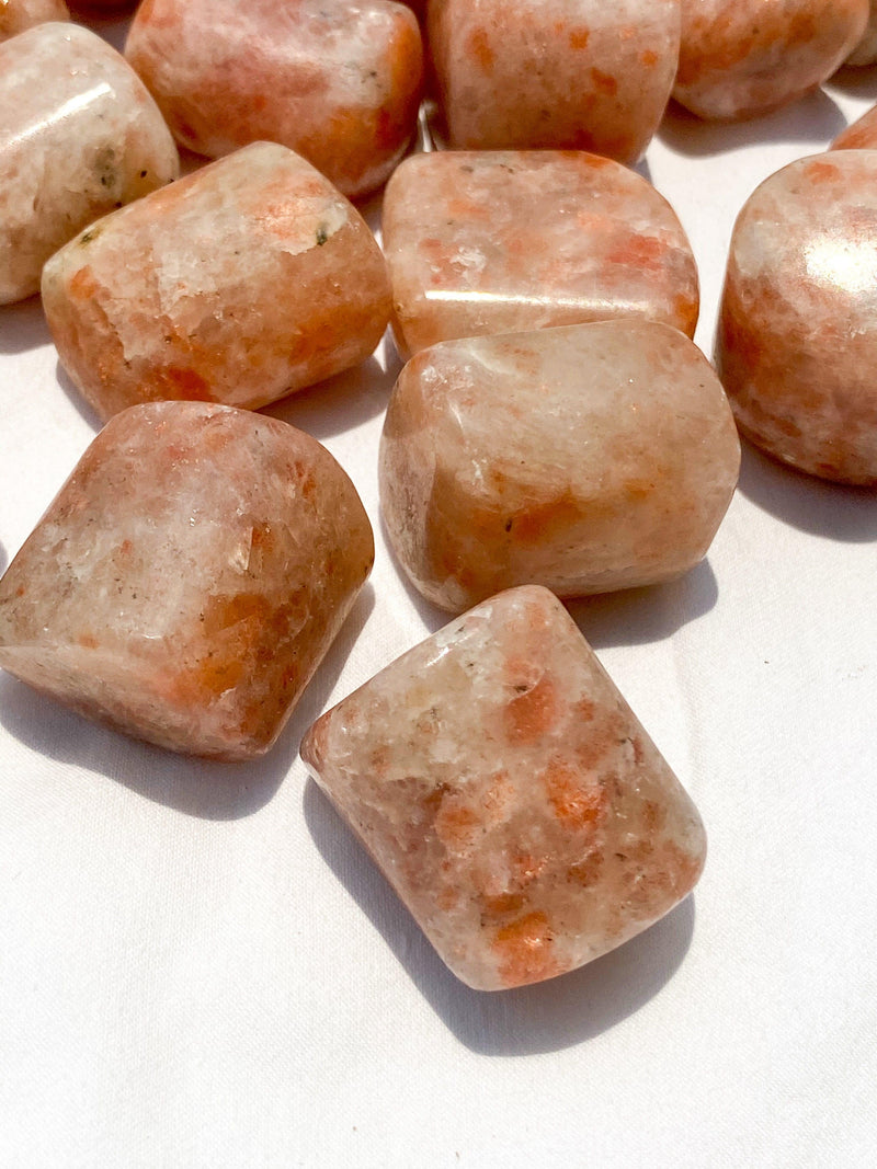 Sunstone Tumbles | Large - Unearthed Crystals
