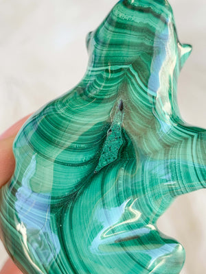 Malachite Carving | Gorilla - Unearthed Crystals