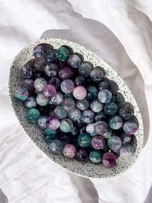 Fluorite Sphere | Mini - Unearthed Crystals