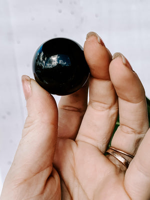Black Obsidian Sphere | Small - Unearthed Crystals