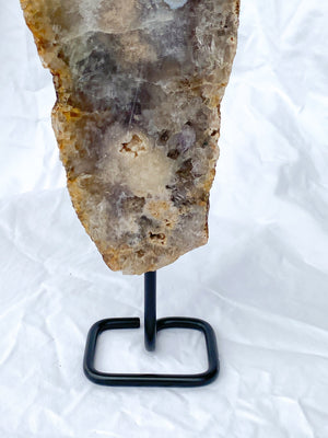 Pink Amethyst Slab on Stand - Unearthed Crystals