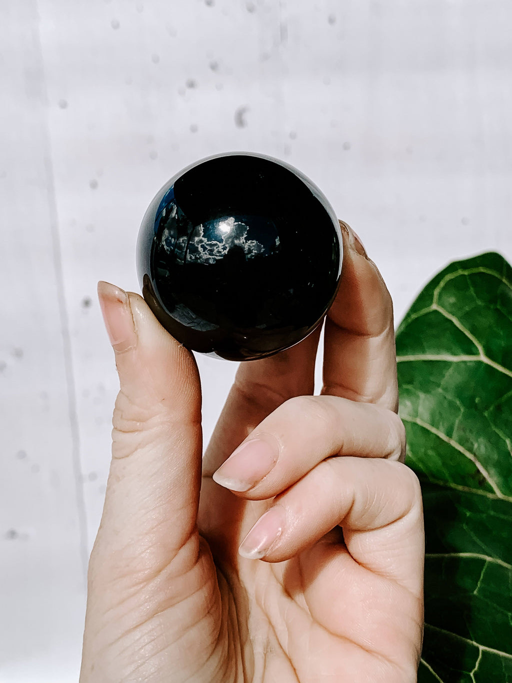 Black Obsidian Sphere | Medium - Unearthed Crystals