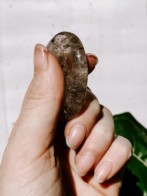 Smokey Quartz Worry Stone | Large - Unearthed Crystals
