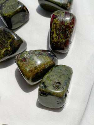 Dragons Blood Jasper Tumbles | Large - Unearthed Crystals