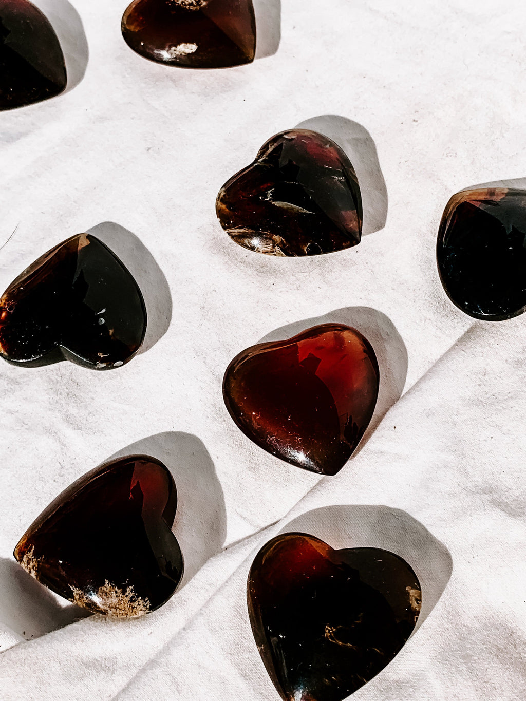 Amber Heart | Medium - Unearthed Crystals