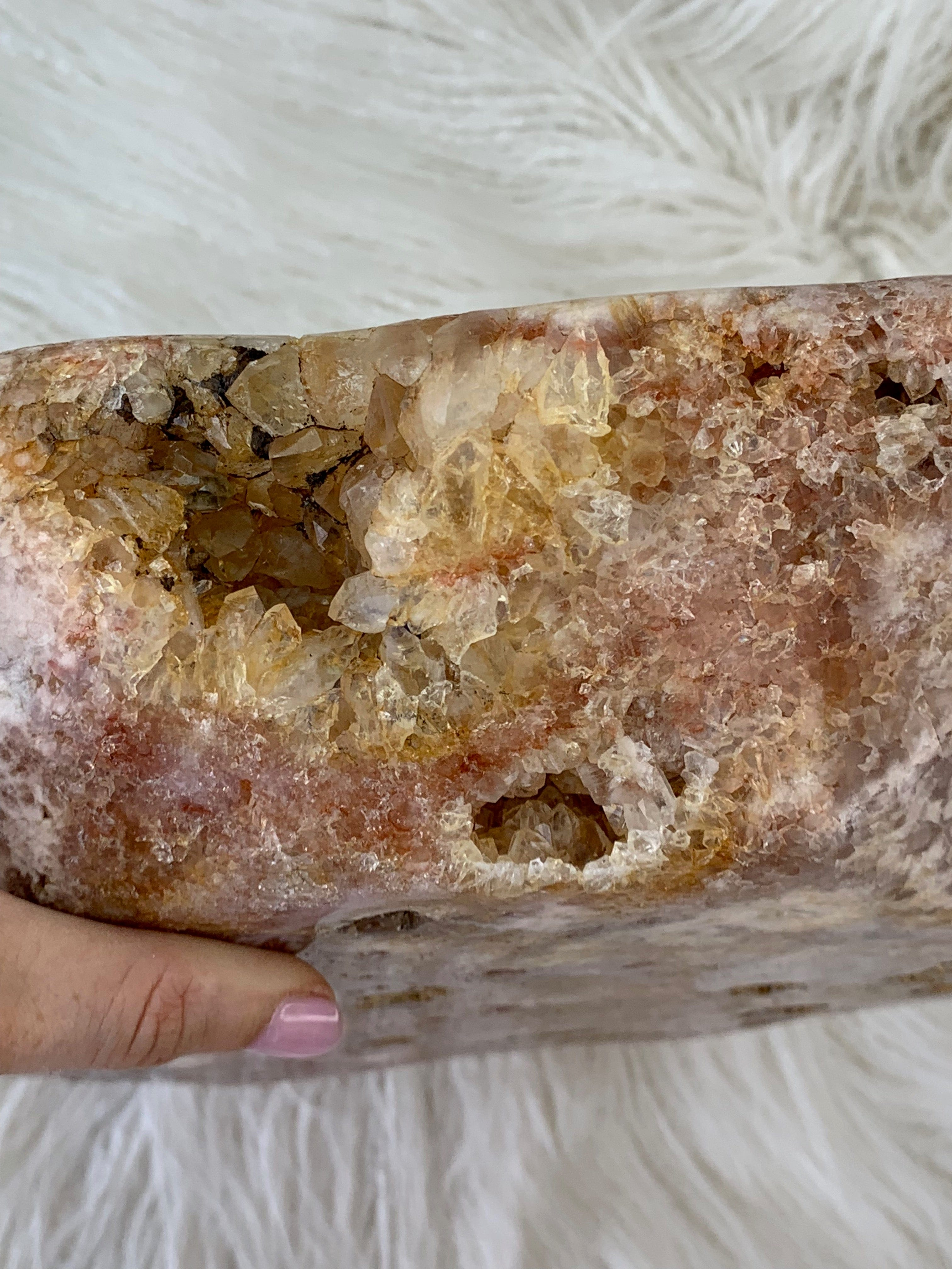 Rose Amethyst Bowl/Platter - Unearthed Crystals
