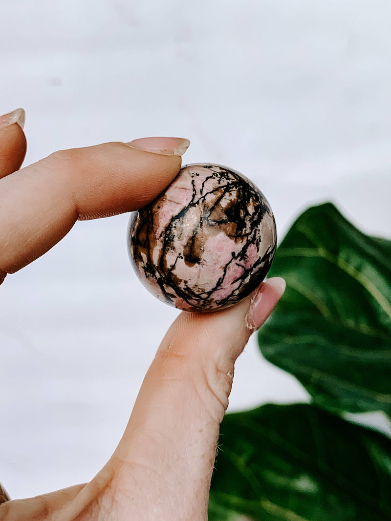 Rhodonite Sphere | Small - Unearthed Crystals