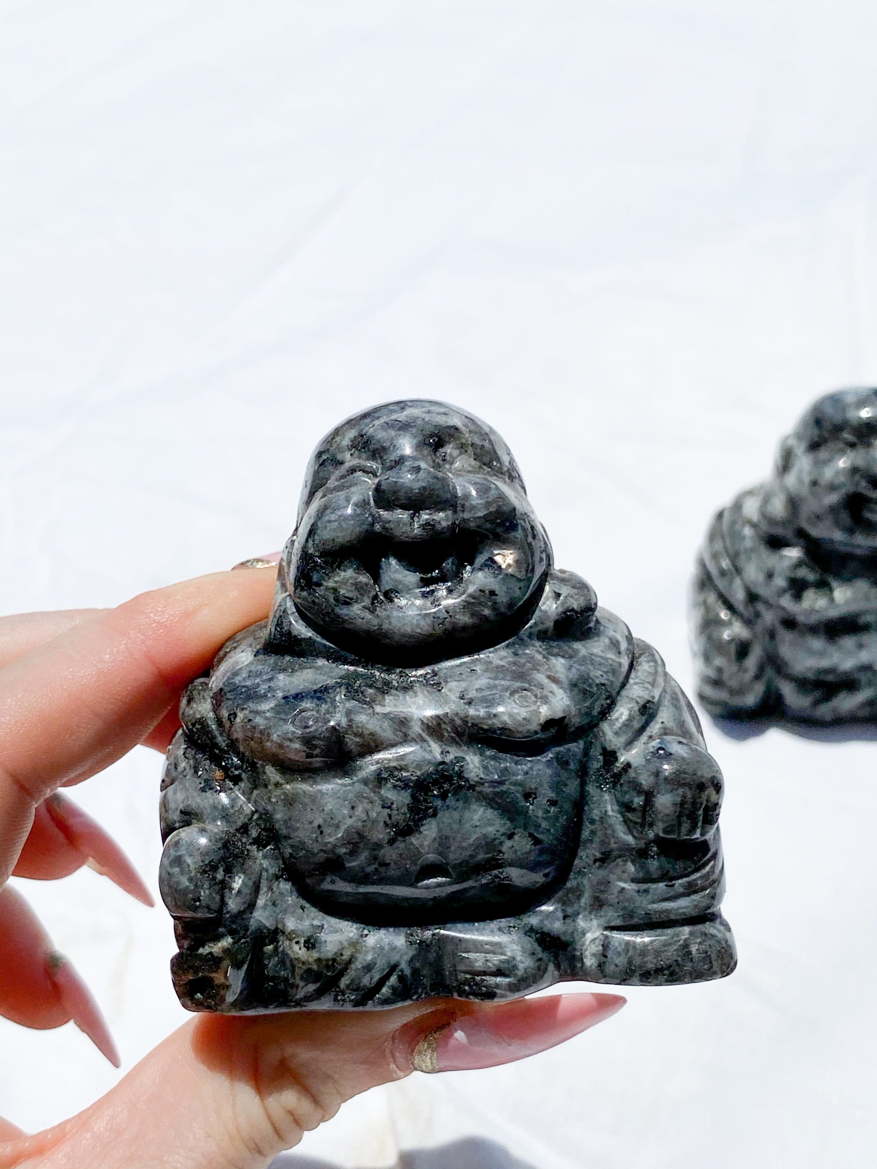 Larvikite Buddha Carving | Large - Unearthed Crystals