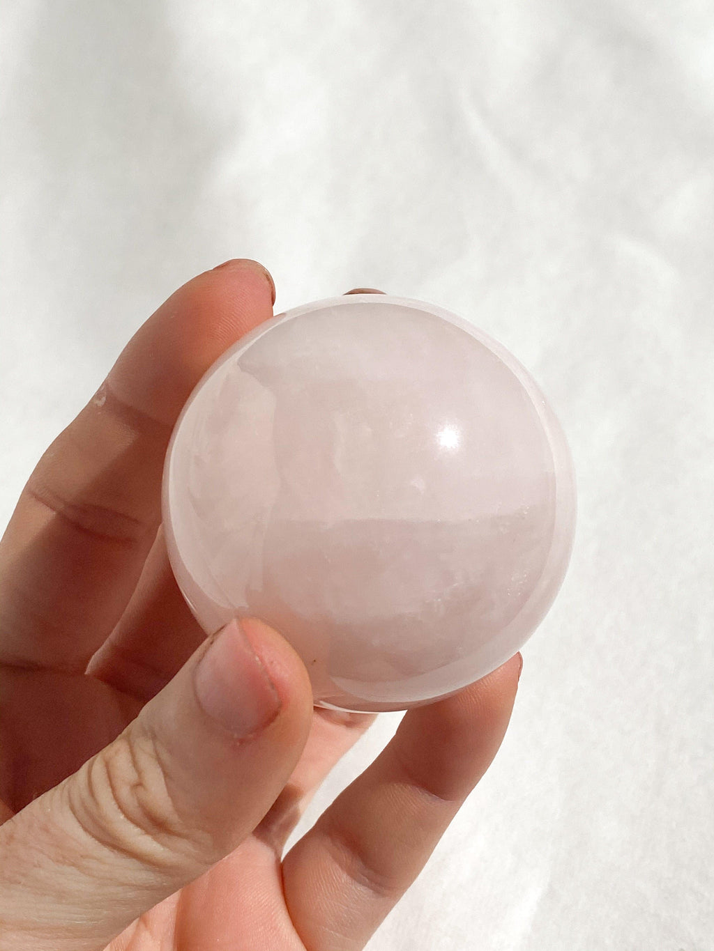 Rose Quartz Sphere - Unearthed Crystals