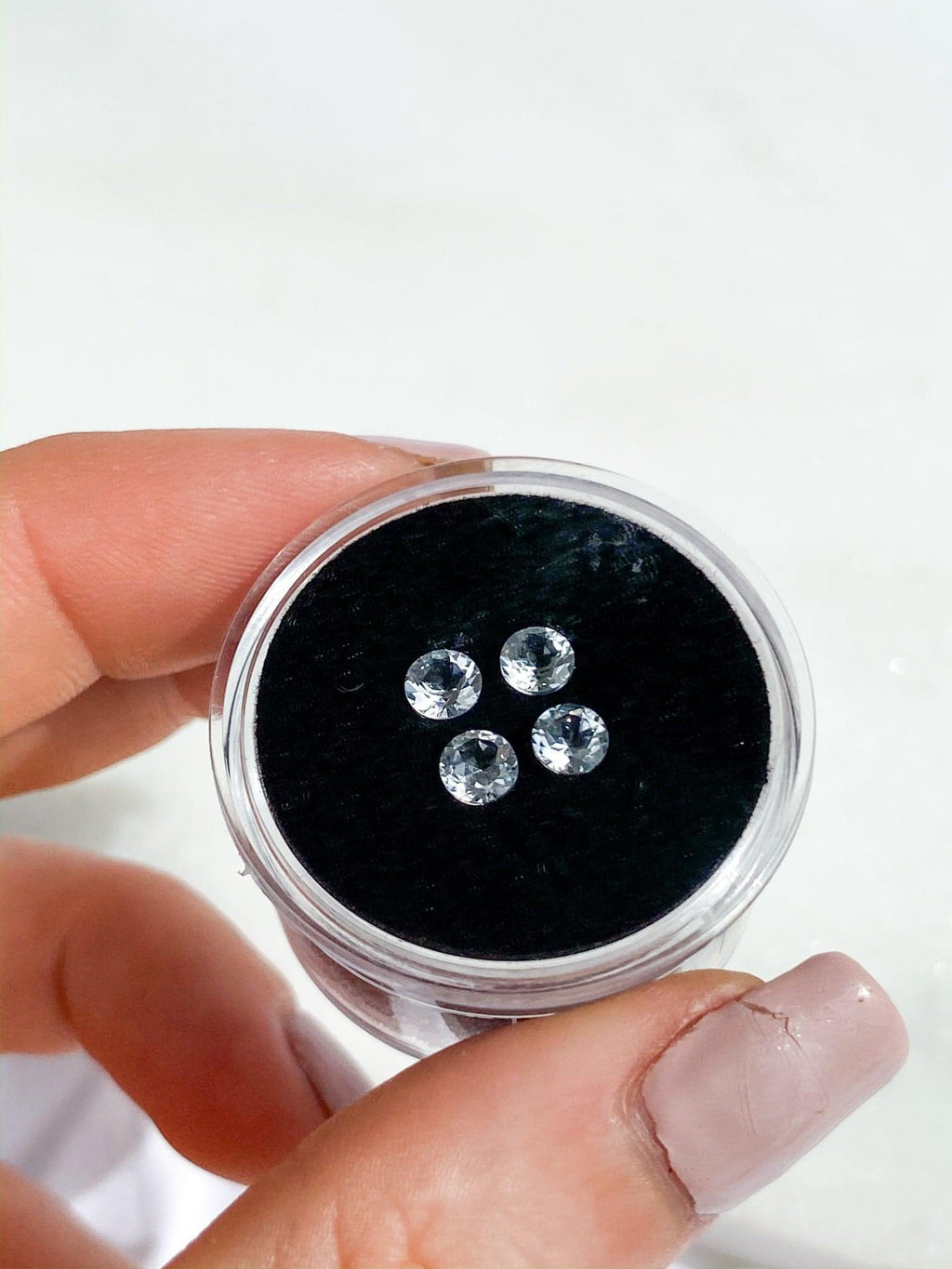 White Topaz | Round Cut | 4 Pieces | 1.23ct - Unearthed Crystals