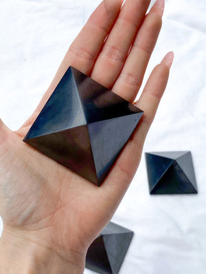 Shungite Pyramid | 50mm - Unearthed Crystals