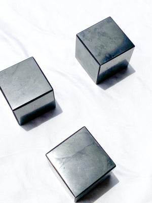 Shungite Cube | 50mm - Unearthed Crystals