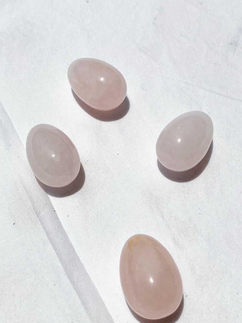 Rose Quartz Egg - Unearthed Crystals
