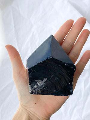 Polished Point Rough | Black Obsidian - Unearthed Crystals