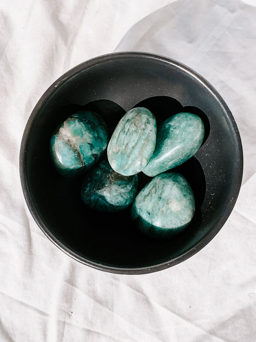 Amazonite Palm stone | Extra Small - Unearthed Crystals
