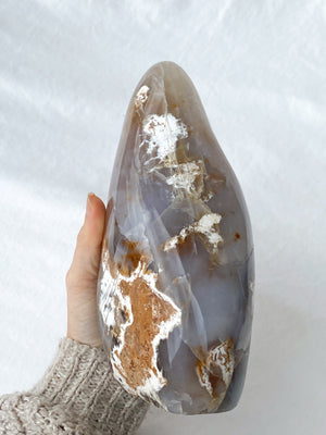 Pre-Roman Empire Agate + Blue Chalcedony Freeform - Unearthed Crystals