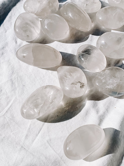 Girasol Quartz Palm Stone | Large - Unearthed Crystals