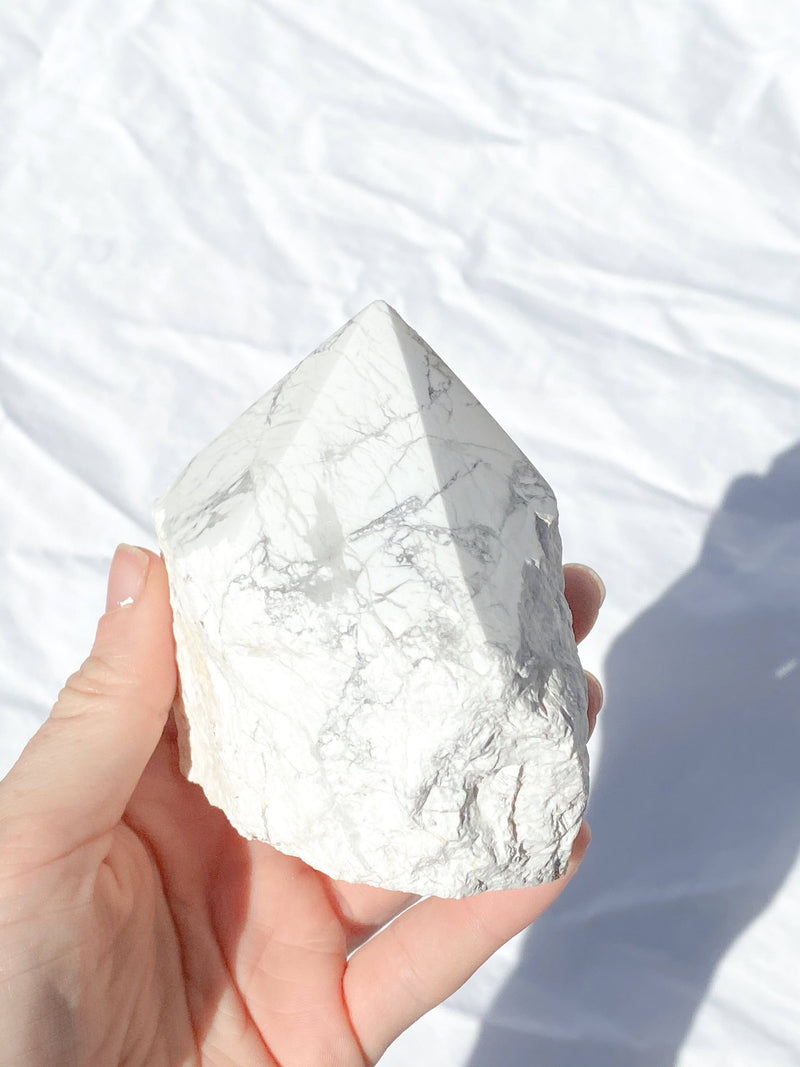 Polished Point Rough | Howlite - Unearthed Crystals