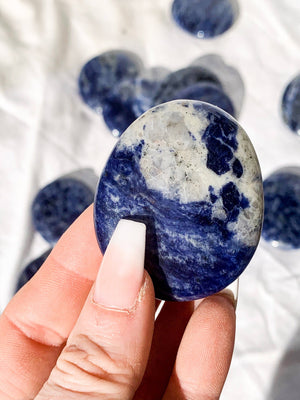 Sodalite Worry Stone | Large - Unearthed Crystals