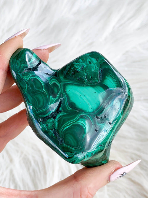 Malachite Polished Freeform - Unearthed Crystals