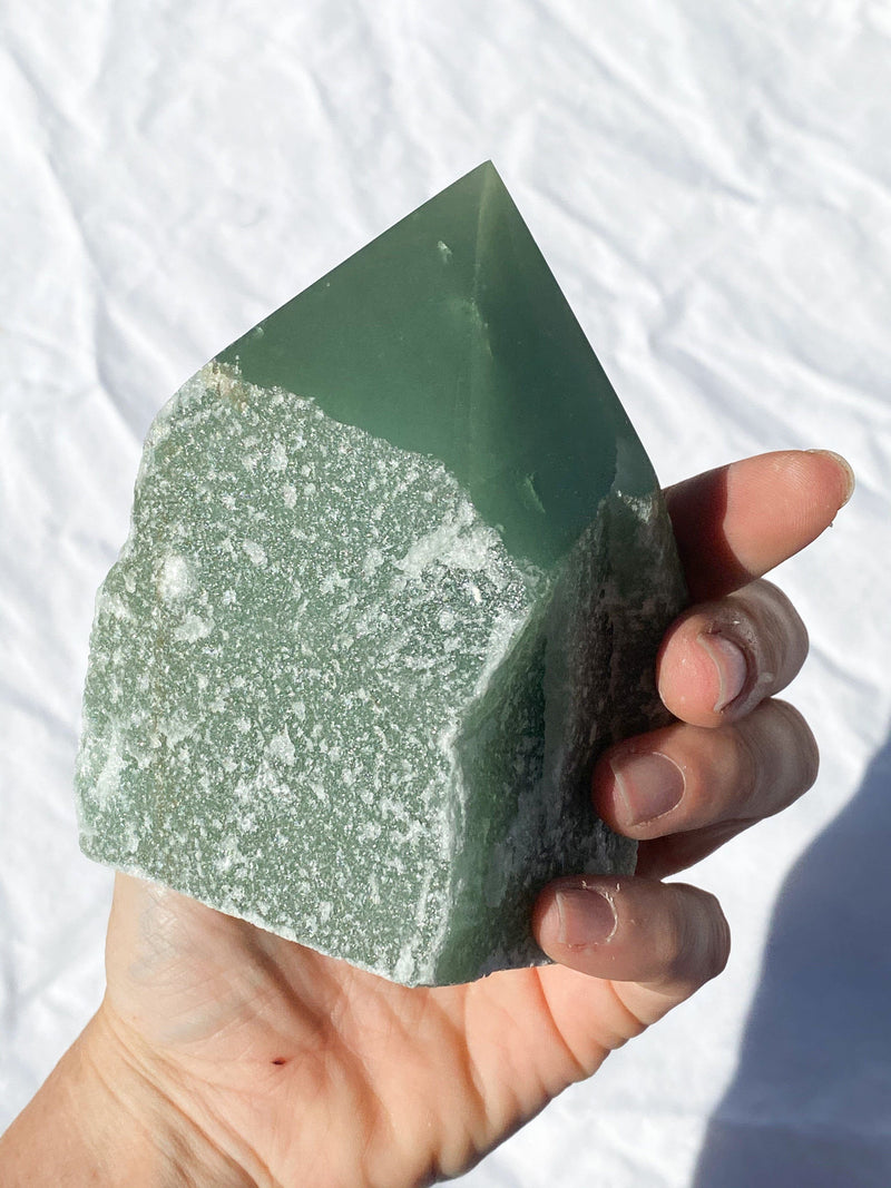 Polished Point Rough | Green Aventurine - Unearthed Crystals