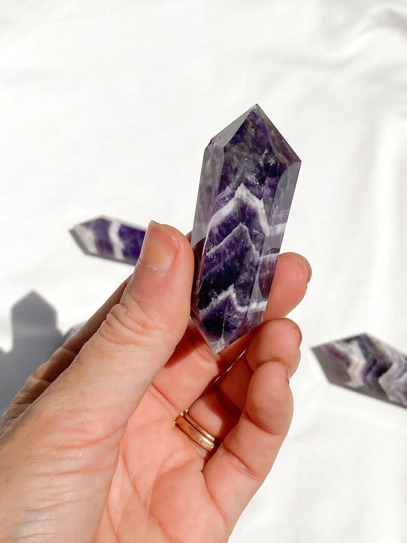 Dream Amethyst Double Terminated Point | Small - Unearthed Crystals