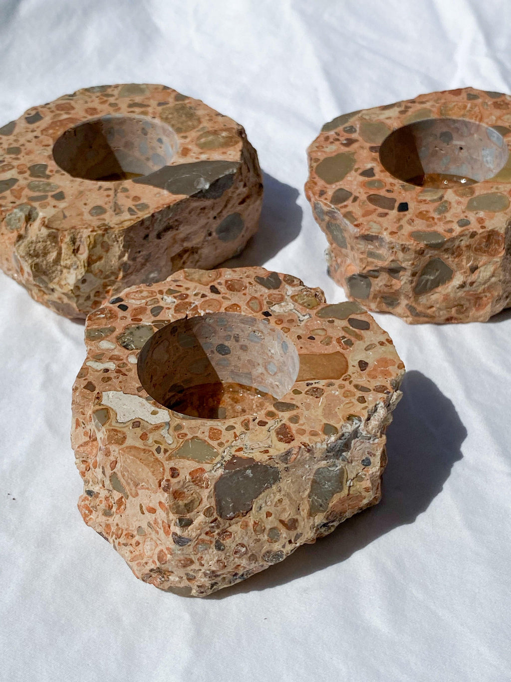 Leopardite Rhyolite Tealight Candle Holder - Unearthed Crystals