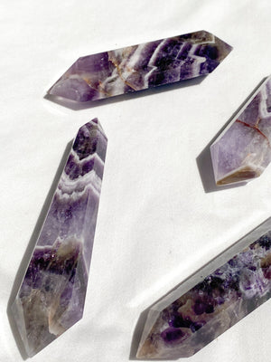Dream Amethyst Double Terminated Point | Medium - Unearthed Crystals