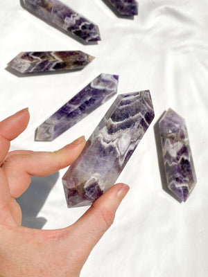 Dream Amethyst Double Terminated Point | Extra Large - Unearthed Crystals