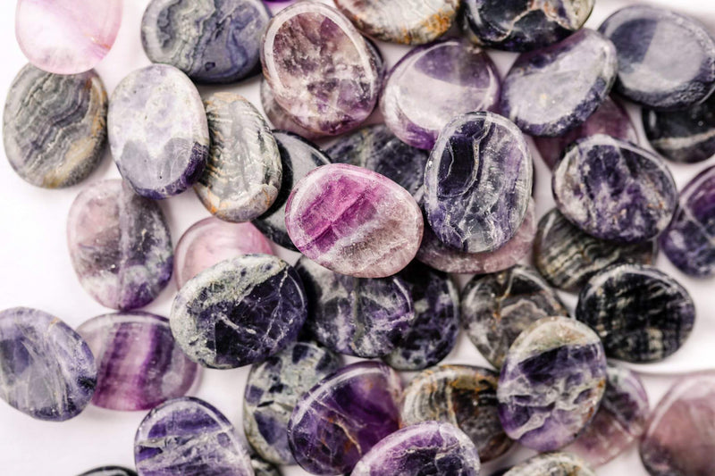 Purple Fluorite Worry Stone - Unearthed Crystals