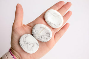 Howlite Worry Stone - Unearthed Crystals