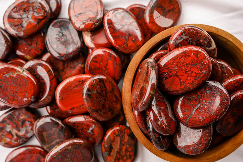 Brecciated Jasper Worry Stone - Unearthed Crystals