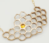 Large Honeycomb Pendant With Citrine