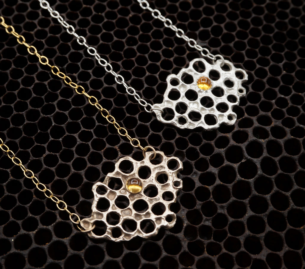 Asymmetrical honeycomb pendant