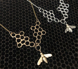 Double Comb Necklace with Bee