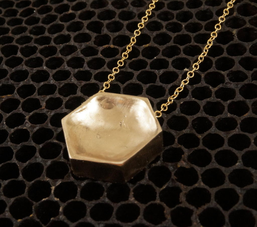 Cast Hexagon Pendant