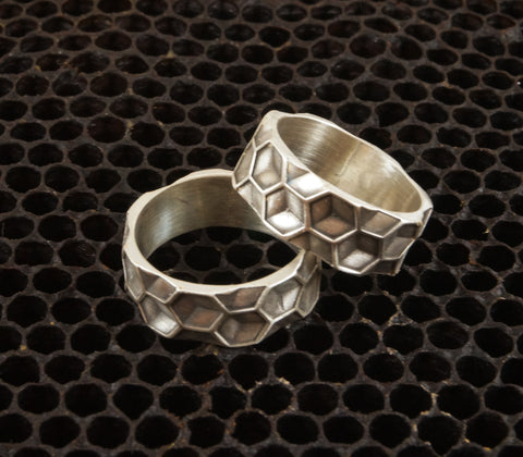 Sterling Hexagon Ring