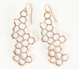 Cast Honeycomb Earrings
