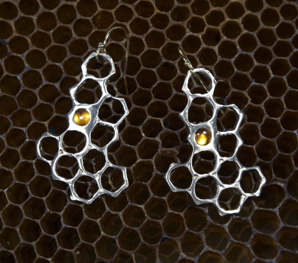 Cast Honeycomb with Citrine