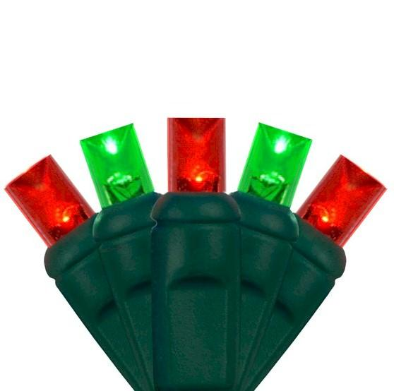 70 Red & Green 5mm Wide Angle Lens - Premium - LED Christmas Lights