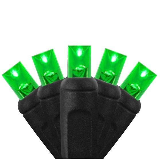 70 Green on Black Wire - Premium - LED Christmas Lights