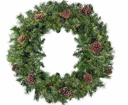 36 Mixed Pine Un-Lit Wreath